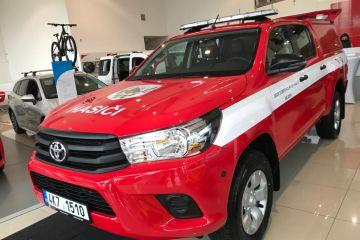 Toyota Hilux 2.4 D‑4D (150 k) 6st. man. převodovka 4×4  – hasičský zásahový vůz