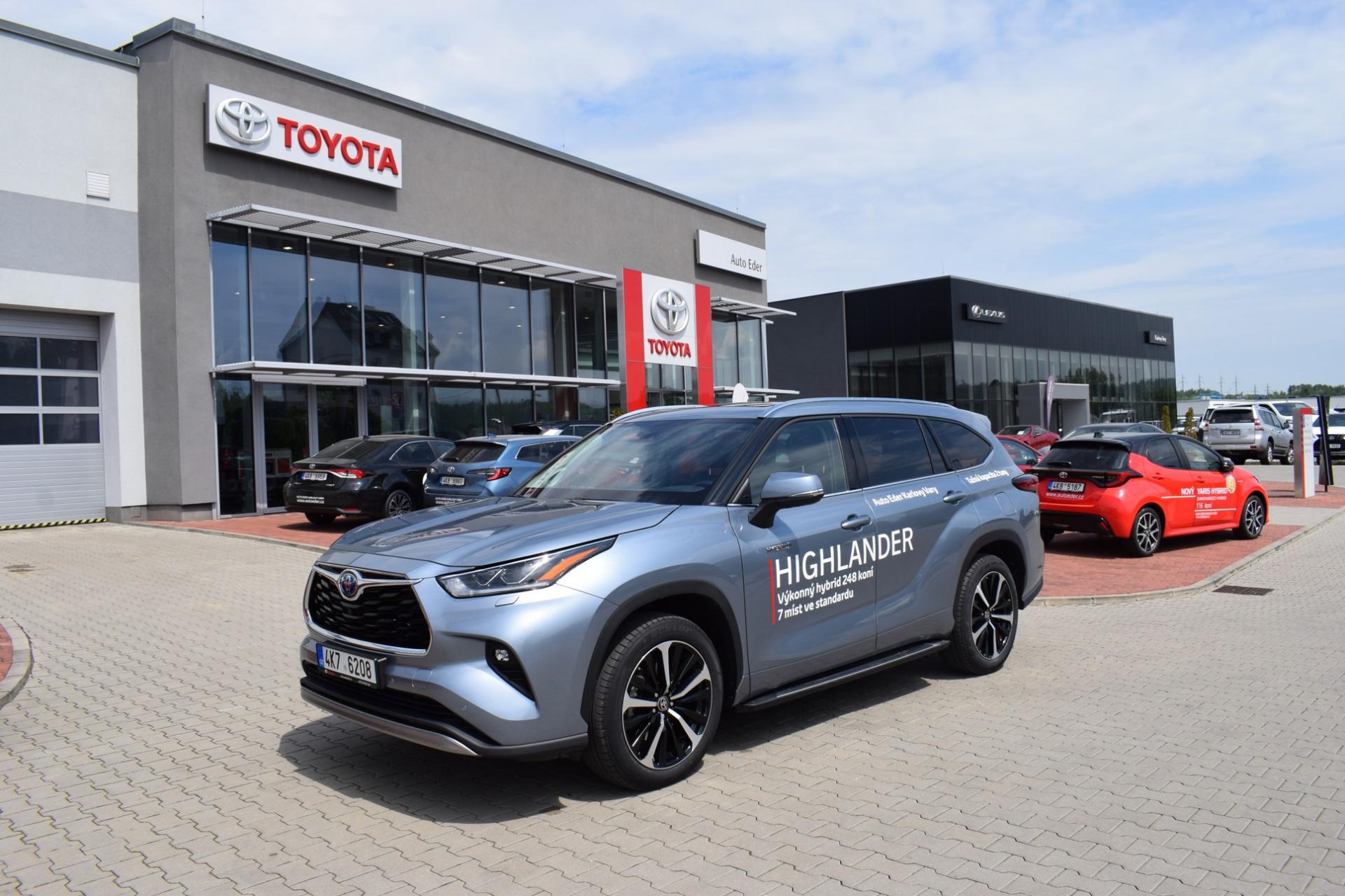 Toyota HIGHLANDER 2,5 Hybrid (248 k) aut. převodovka e-CVT AWD-i benzin Executive